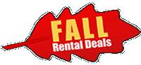 fall car rental sepcials